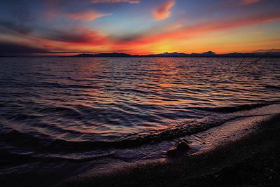 Lady Bug - Spring Sunset at Willard Bay by Gina Herbert