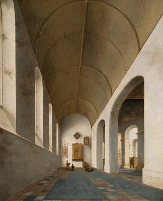 Painting - St Antoniuskapel In The St Janskerk, Utrecht by Pieter Jansz Saenredam