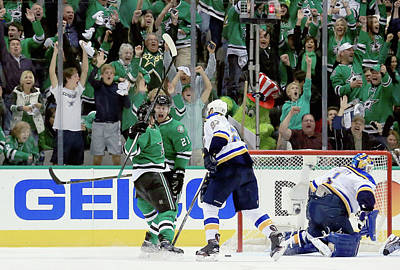 Photograph - St Louis Blues V Dallas Stars - Game One by Tom Pennington