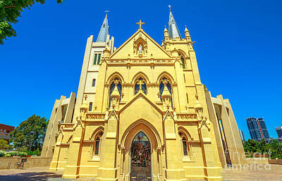 Photograph - St Marys Cathedral In Perth by Benny Marty