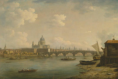 Painting - St. Paul's And Blackfriars Bridge by William Marlow