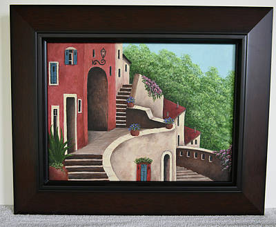 Painting - Mediterranean Stairs by Gloria Johnson