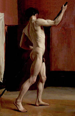 Soap Suds - Standing Male Nude by Harold Knight