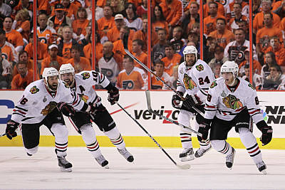Photograph - Stanley Cup Finals - Chicago Blackhawks by Bruce Bennett
