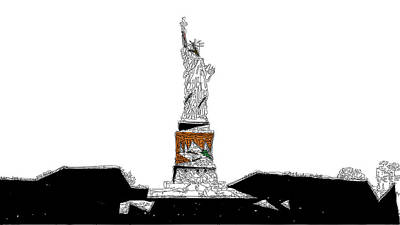 Mixed Media - Statue Of Liberty by David Ridley