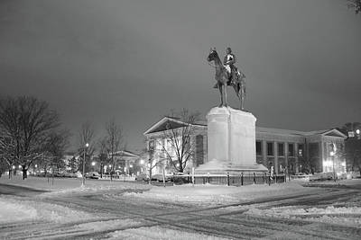 Photograph - Stonewall Jackson On Snowy Morning by Doug Ash