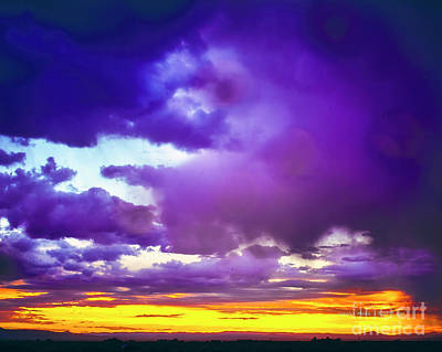 Photograph - Storm At Sunset by Charles Muhle