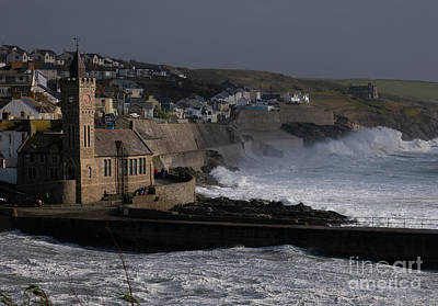 Nautical Animals - Storm Freya batters the coast of Porthleven by Jonathan Mitchell