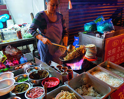 Photograph - Street Food, Shanghai by Jeff Lucas