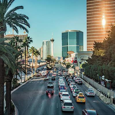 Photograph - Street Scenes In Las Vegas Nevada by Alex Grichenko