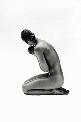 Photograph - Studio Shot Of Naked Woman Sitting by Win-initiative