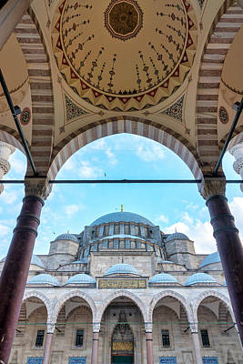 Photograph - Courtyard Of The Suleymaniye Mosque by Fabrizio Troiani