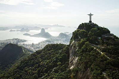 Photograph - Sunny View Onto Corcovado And Sugarloaf by Christian Adams