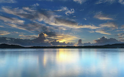 Photograph - Sunrise And Clouds Brighten The Bay by Merrillie Redden