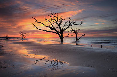 Namaste With Pixels Royalty Free Images - Sunrise Royalty-Free Image by Carol VanDyke