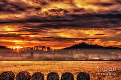 Photograph - Sunrise On The Farm by Thomas R Fletcher