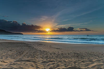 Photograph - Suns Up Beach Scape by Merrillie Redden
