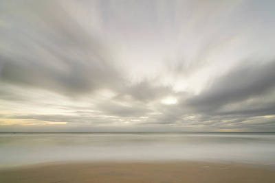 Photograph - Sunset, Clouds, Beach And Surf, New by Eastcott Momatiuk