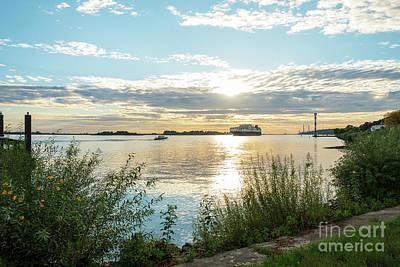 Photograph - Sunset On The Elbe by Marina Usmanskaya
