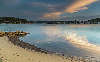 Photograph - Sunset Over The Bay With High Cloud by Merrillie Redden