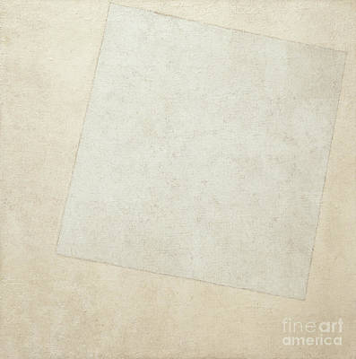 Painting - Suprematist Composition  White On White, 1918  by Kazimir Malevich