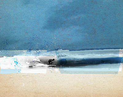 Photograph - Surfer Riding Wave In Ocean by Caroline Tomlinson