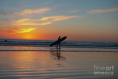 Photograph - Surfing Sunset  by Roman Gomez