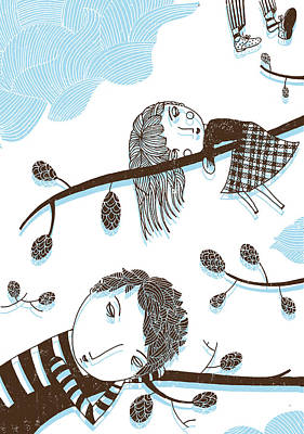 Sweet Dreams Art Print by Luciano Lozano