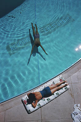 Us State Photograph - Swimmer And Sunbather by Slim Aarons