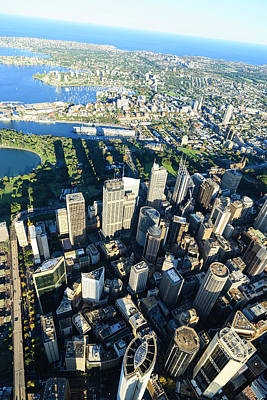 Photograph - Sydney Downtown - Aerial View by Btrenkel