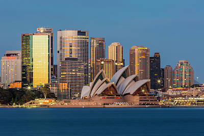 Photograph - Sydney Skyline by Phillip Hayson