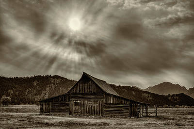 Photograph - Ta Moulton Barn In Sepia by Mark Kiver