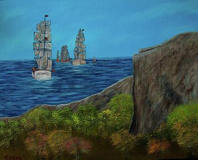 Painting - Tall Ships by Randy Sylvia