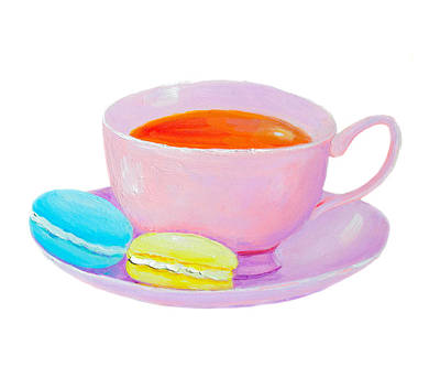 Painting - Tea And Macaroons by Jan Matson