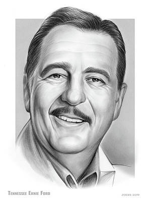 Beach House Throw Pillows - Tennessee Ernie Ford by Greg Joens