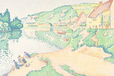Relief - The Andelys by Paul Signac