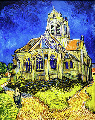 Painting - The Church At Auvers-sur-oise by Vincent Van Gogh