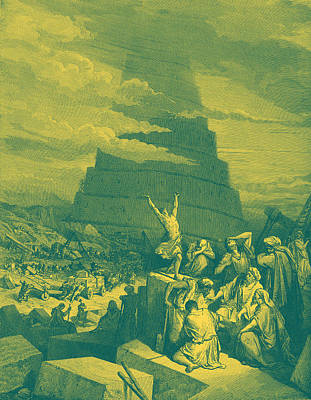 Tower Of Babel Gustave Dore Wall Art - Painting - The Confusion Of Tongues by Gustave Dore