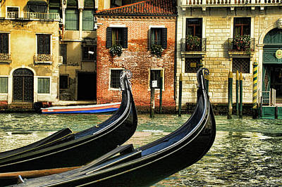 Photograph - The Dancing Gondolas by Mary Buck