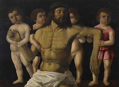 Painting - The Dead Christ Supported By Angels by Filippo Mazzola