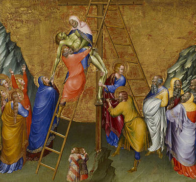 Painting - The Descent From The Cross by Giovanni di Paolo