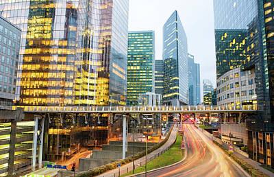 Financial District Photograph - The Financial District, La Defense by Scott E Barbour