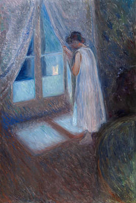 Painting - The Girl By The Window by Edvard Munch