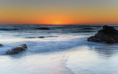 Photograph - The Glow Begins - Sunrise Seascape by Merrillie Redden