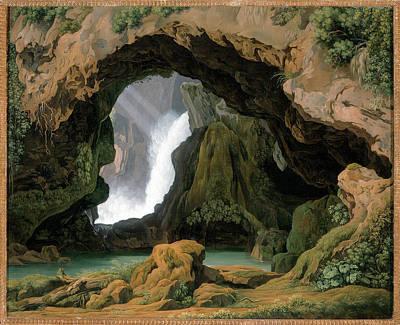 Painting - The Grotto Of Neptune In Tivoli by Johann Martin von Rohden
