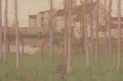 Painting - The Haunted Chateau, Grez-sur-loing by David Gauld