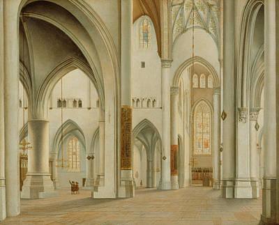 Painting - The Interior Of St. Bavo, Haarlem by Pieter Jansz Saenredam