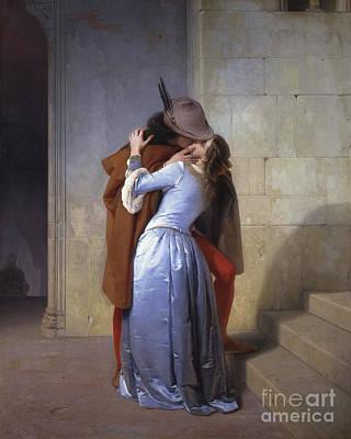 Painting - The Kiss, 1859  by Francesco Hayez