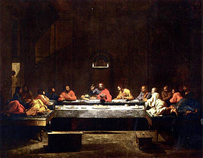 Painting - The Last Supper  by Nicolas Poussin