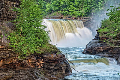 Photograph - The Lower Falls At Letchworth State Park by Jim Vallee